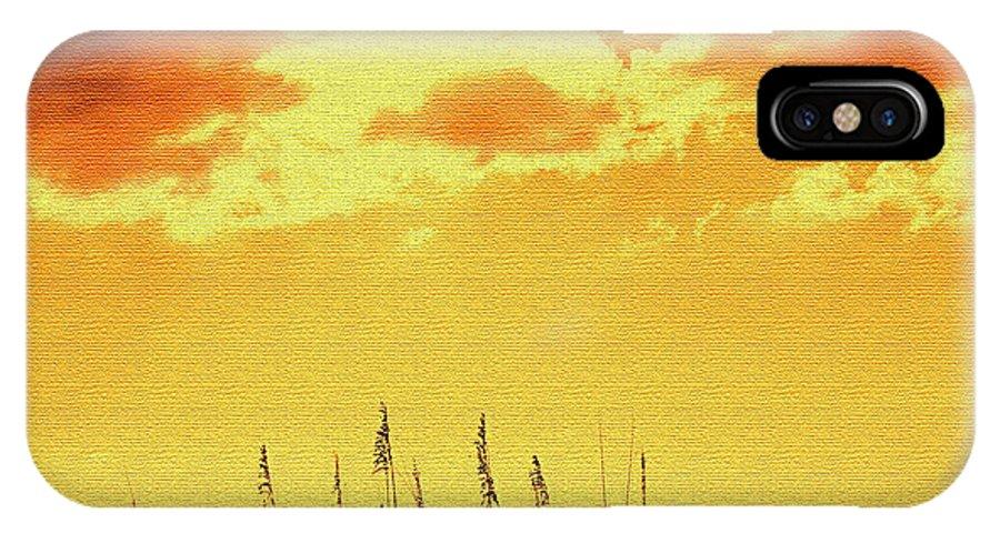 Sun IPhone X Case featuring the photograph Sun by Ian MacDonald