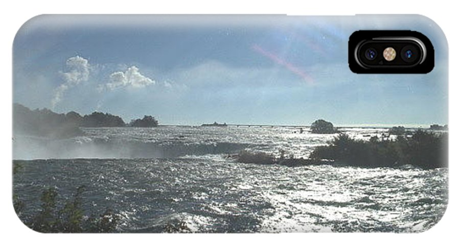 Landscape IPhone X Case featuring the photograph Sun On The Falls by Debbie Levene