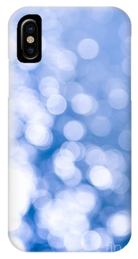 Blue IPhone X Case featuring the photograph Sun Reflections On Water by Elena Elisseeva