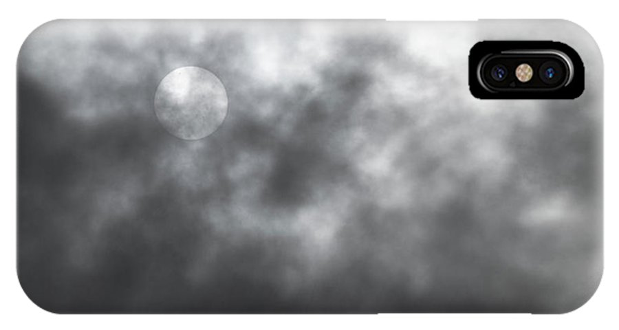 Sun IPhone X / XS Case featuring the photograph Sun Through The Clouds by Mick Anderson
