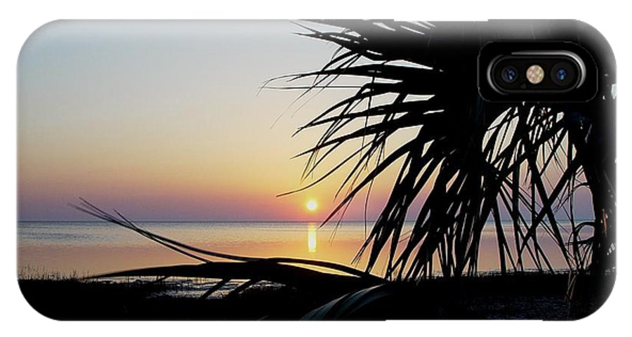Sunset IPhone X Case featuring the photograph Sun Touched by Debbie May