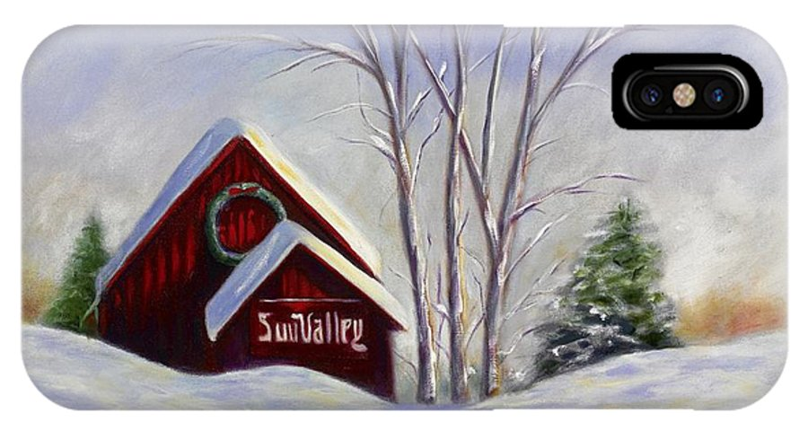 Landscape White IPhone X Case featuring the painting Sun Valley 1 by Shannon Grissom