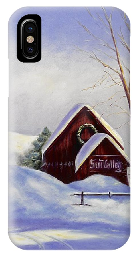 Landscape IPhone Case featuring the painting Sun Valley 2 by Shannon Grissom