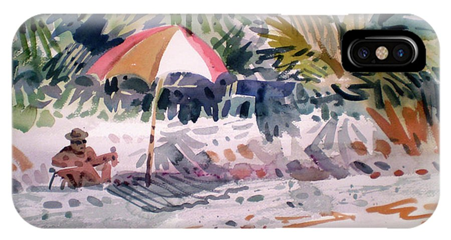 Captiva Island IPhone X Case featuring the painting Sunbather by Donald Maier