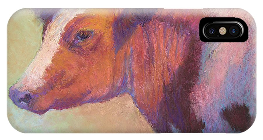 Farm Animals IPhone Case featuring the painting Sunbather by Susan Williamson