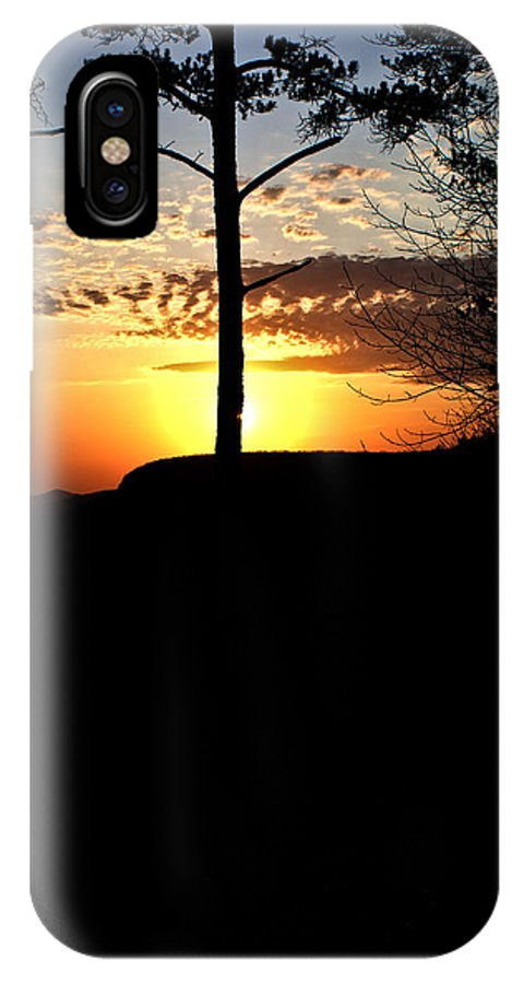 Sunburst IPhone X Case featuring the photograph Sunburst Sunset by Douglas Barnett