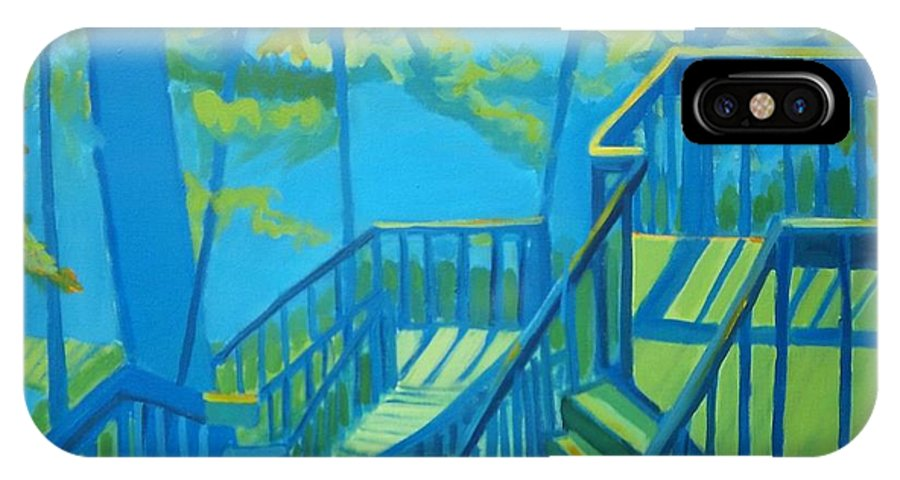 New Hampshire IPhone Case featuring the painting Suncook Stairwell by Debra Bretton Robinson