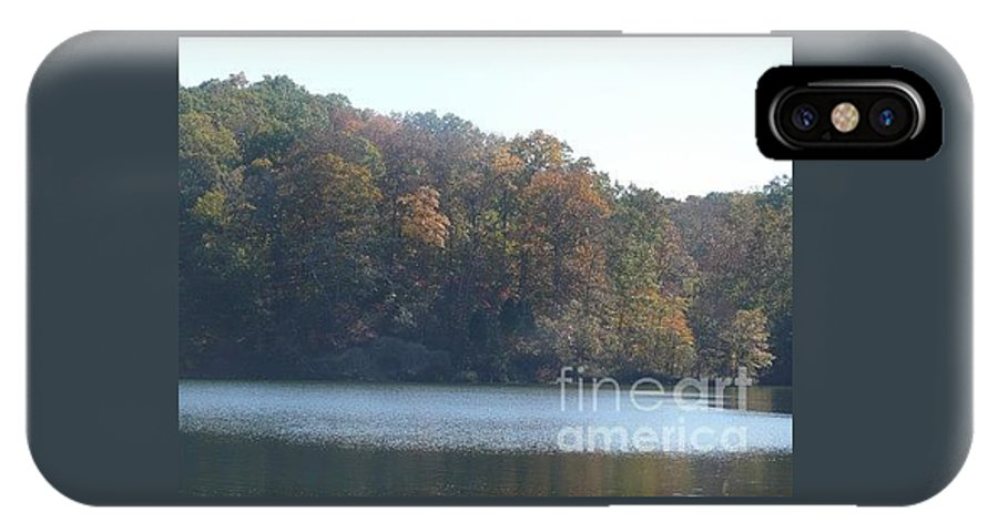 Nature IPhone X Case featuring the photograph Sunday Afternoon At The Lake by Barb Montanye Meseroll