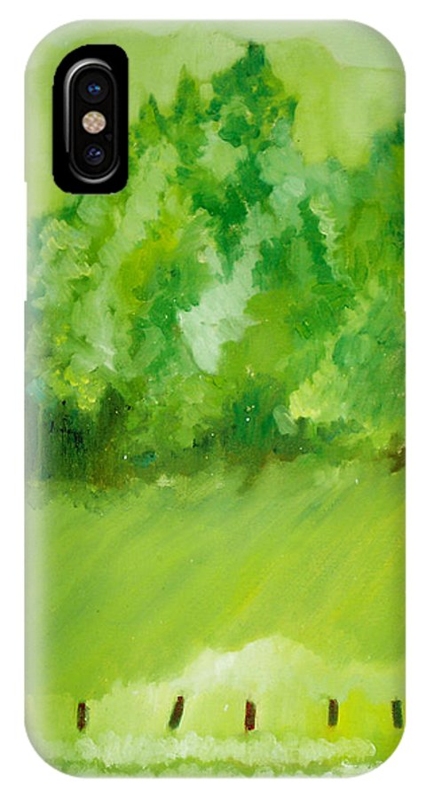 Spring IPhone X / XS Case featuring the painting Sunday At Two Thirty by Seth Weaver