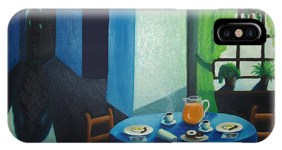 Breakfast IPhone Case featuring the painting Sunday Morning Breakfast by Nancy Mueller
