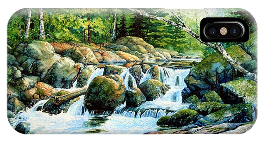 Muskoka Morning Landscape IPhone X Case featuring the painting Sunfish Creek by Hanne Lore Koehler