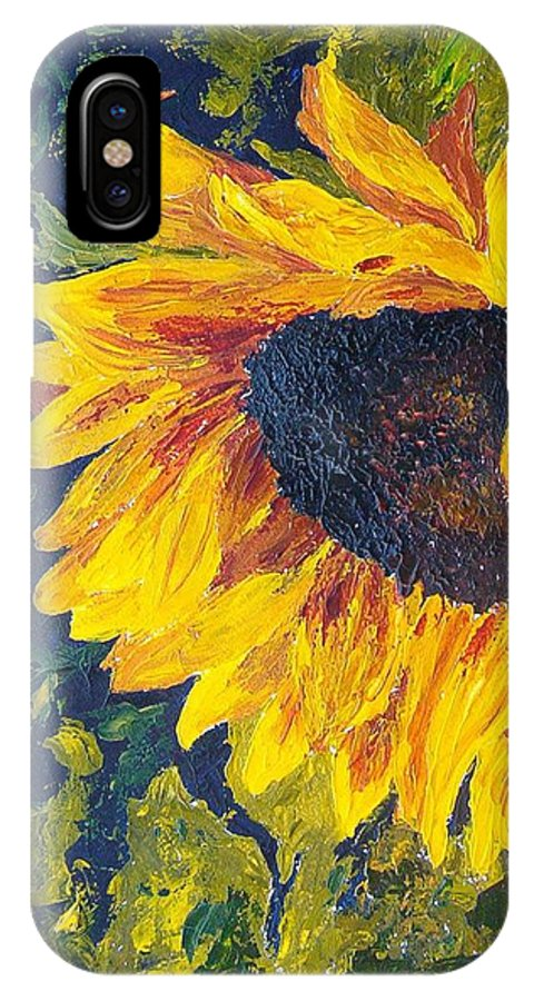 IPhone X Case featuring the painting Sunflower by Tami Booher