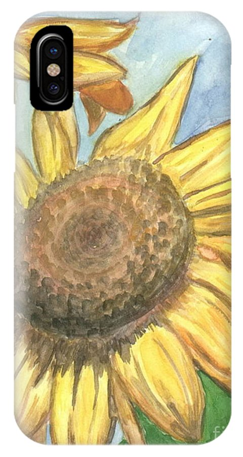 Daisy IPhone X Case featuring the painting Sunflowers by Jacqueline Athmann