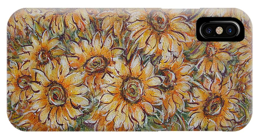 Flowers IPhone Case featuring the painting Sunlight Bouquet. by Natalie Holland