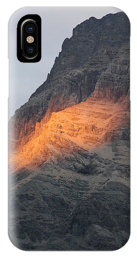 Nature IPhone X Case featuring the photograph Sunlight Mountain by Mary Mikawoz