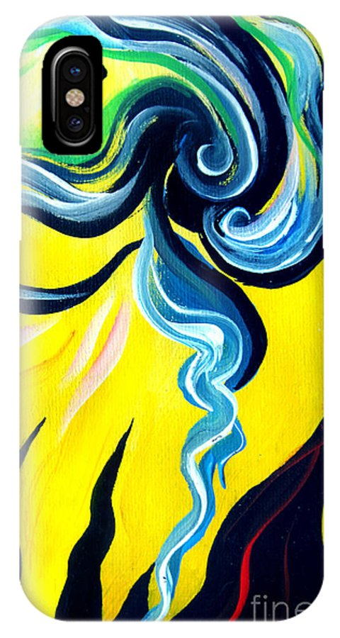 Positive IPhone X Case featuring the painting Sunlight, To Erase The Negative Energy by Sofia Metal Queen