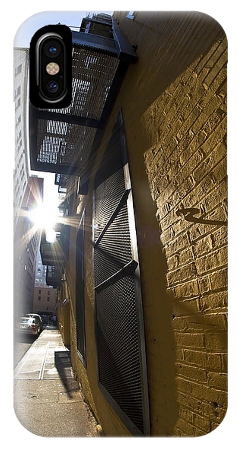 Alley IPhone X Case featuring the photograph Sunny Alley by Sven Brogren
