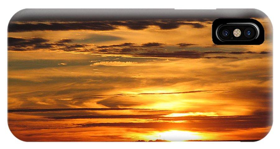 Landscape IPhone X / XS Case featuring the photograph Sunrise 1 by David Dunham