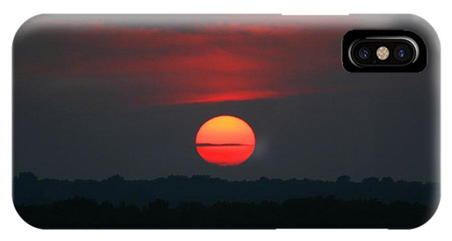 Sunrise IPhone X / XS Case featuring the photograph Sunrise 2 by David Dunham
