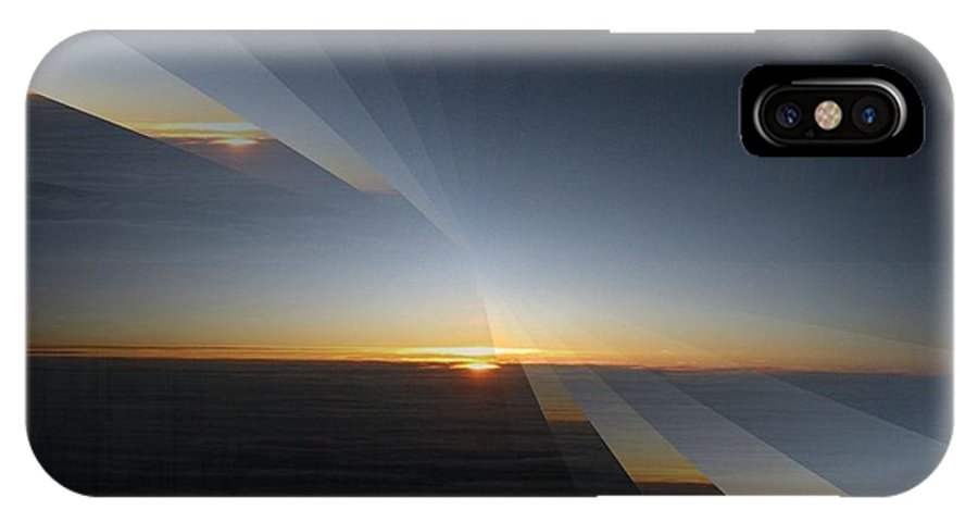 Sunrise IPhone X Case featuring the photograph Sunrise At 30k 4 by Tim Allen