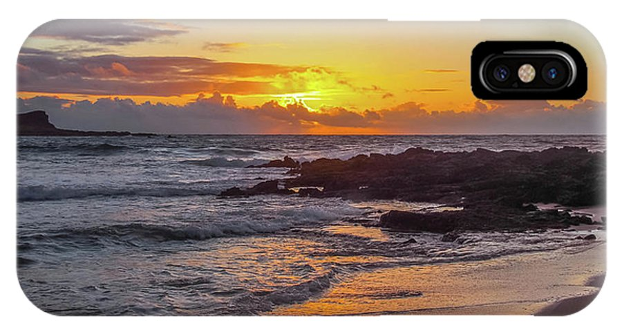 Makapuu IPhone X Case featuring the photograph Sunrise At Makapu'u by G Ward Fahey