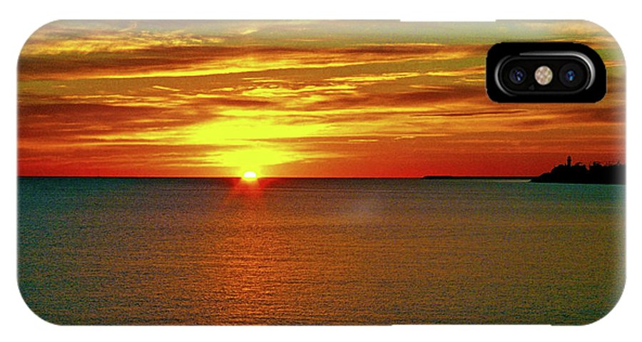 North America IPhone X Case featuring the photograph Sunrise At Matane by Juergen Weiss
