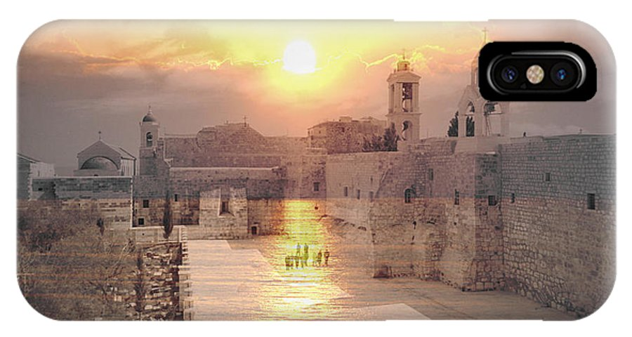Bethlehem IPhone X Case featuring the photograph Sunrise Bethlehem by Munir Alawi