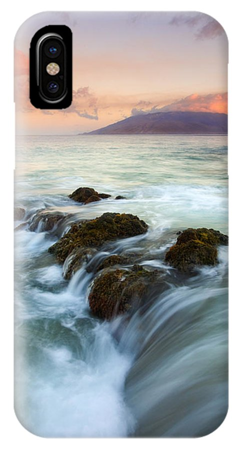 Sunrise IPhone X Case featuring the photograph Sunrise Drain by Mike Dawson