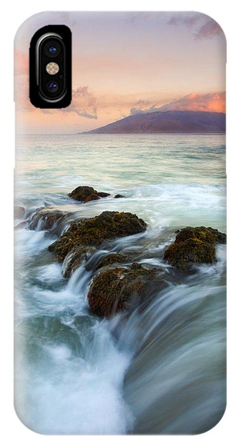 Sunrise IPhone X Case featuring the photograph Sunrise Drain by Mike Dawson