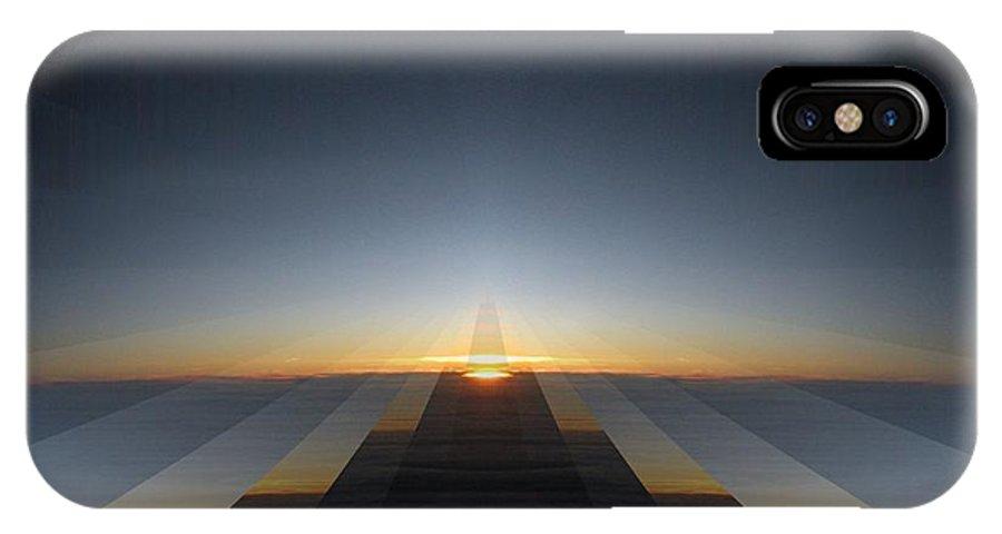 Sunrise IPhone X Case featuring the digital art Sunrise From 30k 3 by Tim Allen