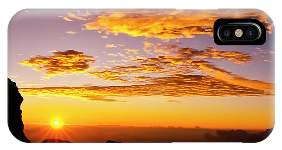 Haleakala IPhone X Case featuring the photograph Maui Hawaii Sunrise Haleakala National Park by Jim Cazel