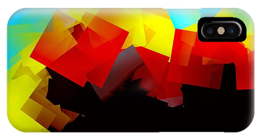 Sunrise IPhone Case featuring the digital art Sunrise by Helmut Rottler