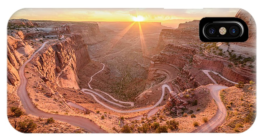 Canyonlands National Park IPhone X Case featuring the photograph Sunrise In Canyonlands by Anderson Outdoor Photos