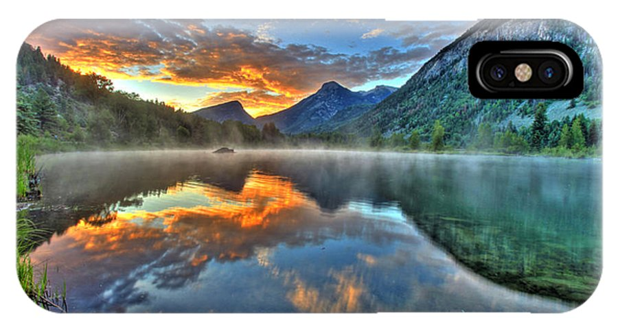 Colorado IPhone X Case featuring the photograph Sunrise Lake by Scott Mahon