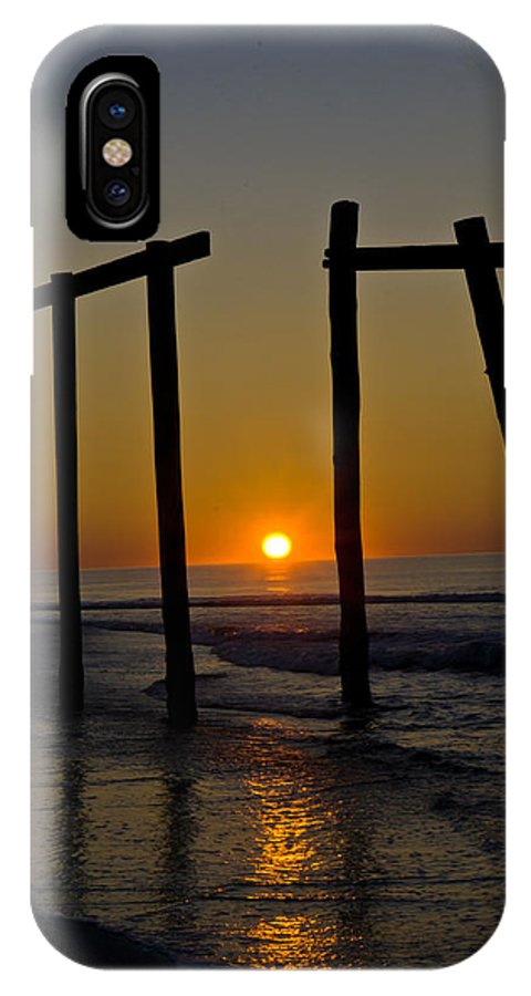 Landscape IPhone X Case featuring the photograph Sunrise At Ocean City by Louis Dallara