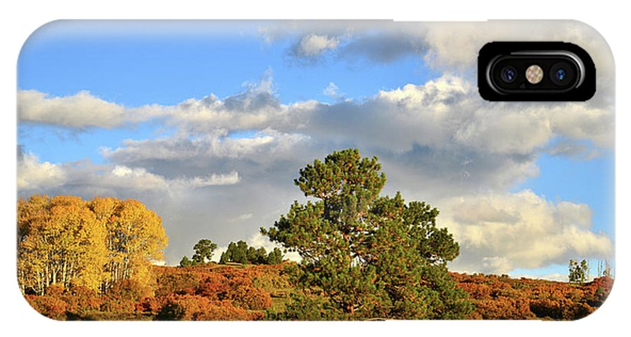 Colorado IPhone X Case featuring the photograph Sunrise On County Road 58 by Ray Mathis