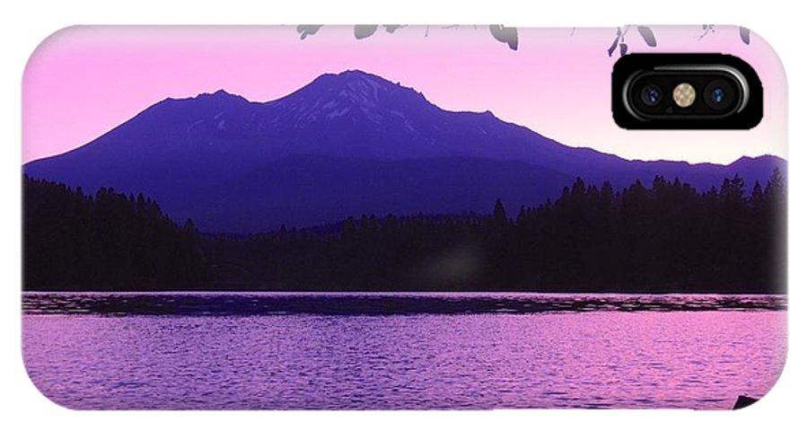 Sunrise IPhone X Case featuring the photograph Sunrise On Lake Shasta by Sarah Avignone