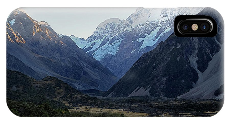 Sunrise IPhone X / XS Case featuring the photograph Sunrise On Mt. Cook by Doug Matthews