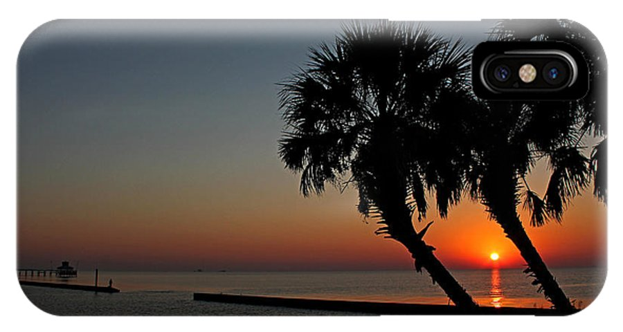America IPhone X Case featuring the photograph Sunrise On Pleasure Island by Judy Vincent