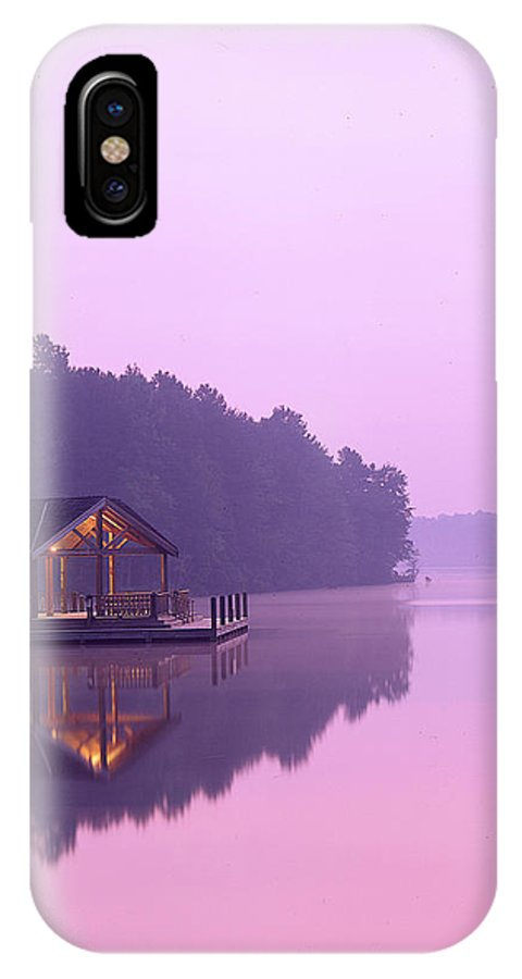Lake IPhone X Case featuring the photograph Sunrise Over Lake Jeanette. by Robert Ponzoni
