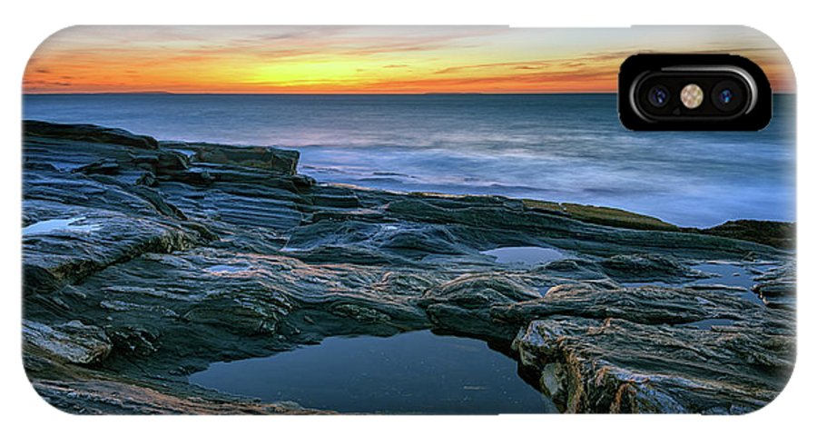 Maine IPhone X Case featuring the photograph Sunrise Over Pemaquid Point by Rick Berk
