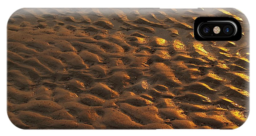 Sunrise IPhone Case featuring the photograph Sunrise Sand Patterns At Hunting Island by Anna Lisa Yoder