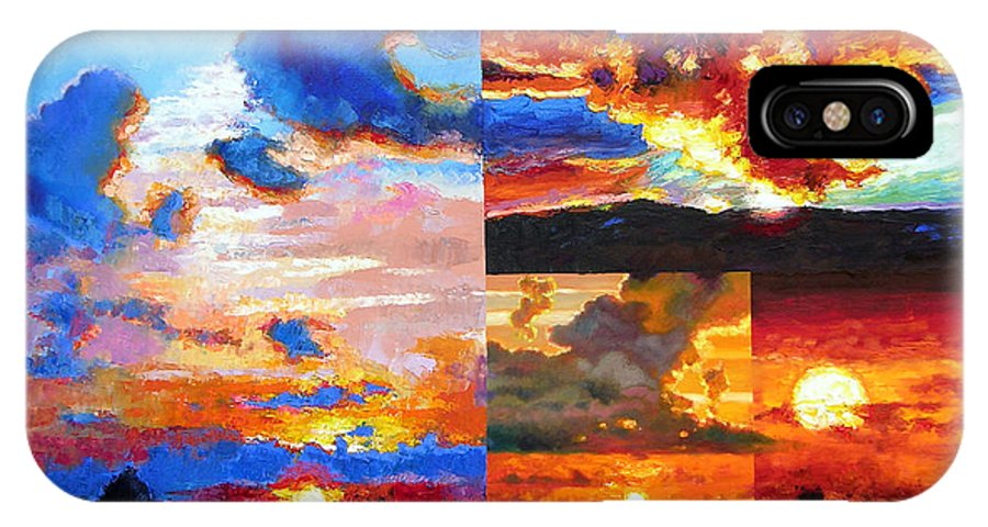 Sunrise IPhone Case featuring the painting Sunrise Sunset Sunrise by John Lautermilch