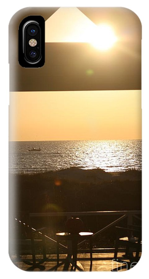 Sunrise IPhone Case featuring the photograph Sunrise Through The Pavilion by Nadine Rippelmeyer