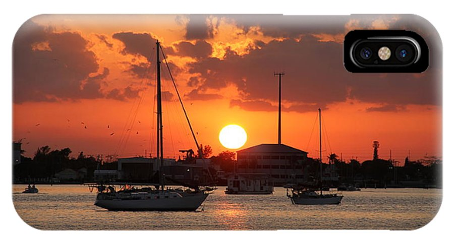 Sunset IPhone X / XS Case featuring the photograph Sunset 3 by Rebecca Pavelka