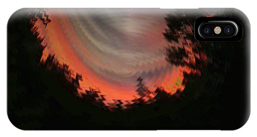 Sunset IPhone X Case featuring the digital art Sunset 3 by Tim Allen