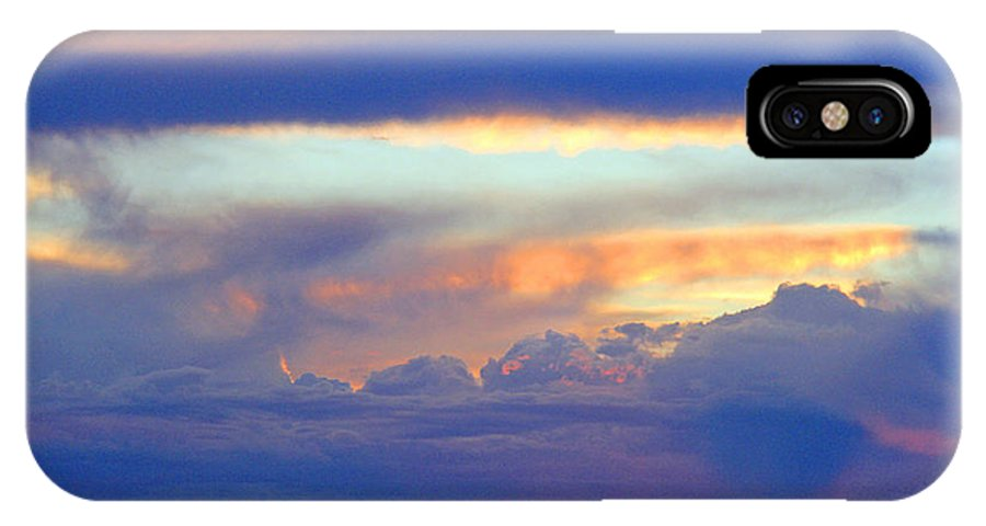 Colorado Sunset IPhone X Case featuring the photograph Sunset 8-19-15 by Robert W Dunlap