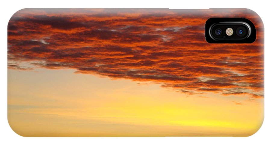 Sunset IPhone X Case featuring the photograph Sunset Art Prints Canvas Orange Clouds Twilight Sky Baslee Troutman by Baslee Troutman