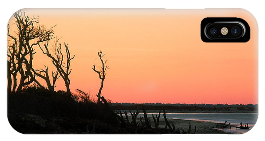 Beach IPhone X Case featuring the photograph Sunset At James Island by John Harmon