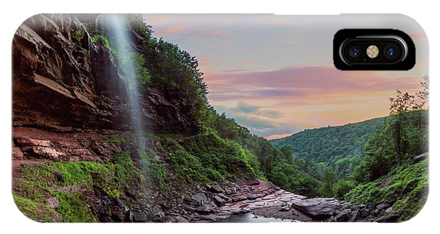 Sunset IPhone X Case featuring the photograph Sunset At Kaaterskill by Kyle Barden